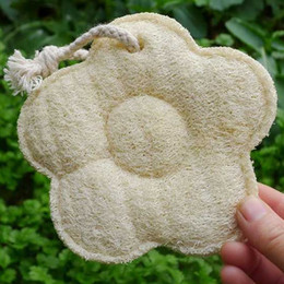 Wholesale Bath Two - Universal Two Sided Loofah Bath Towel Comfortable Flower Shape Luffa Bathing Brushes Exfoliator Cleaning Tools New Arrival 5 2sd B