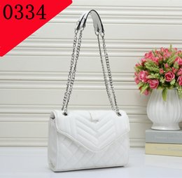 Wholesale Buckle Messenger Bags - Single shoulder bag designers messenger bag fashion of brand chain buckles packets High quality European and American popular carry-on incl