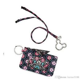 Wholesale Zipper Lanyards - NWT VB Cartoon Zip ID Case with Lanyard ID Card Holder Credit Card Bus Card Case