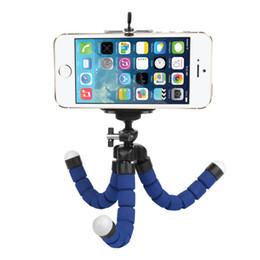 2018 губка мобильная новое прибытие Мини Flexible Sponge Octopus Штатив для iPhone Samsung Xiaomi Huawei Мобильный телефон Смартфон Штатив дешево губка мобильная