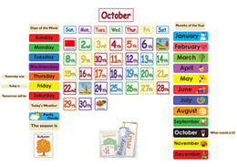 Wholesale Early English - Flash card early education card, month, weather, solar terms, holidays, classroom walls, post English calendar wall