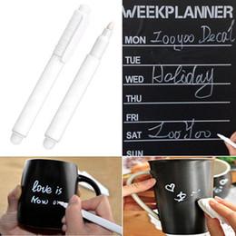 Wholesale Blackboard Chalks - White Liquid Chalk Marker Fine Tip for Glass Windows Chalkboard Blackboard, and Writing Erasable Chalkboard Label Paint Pen