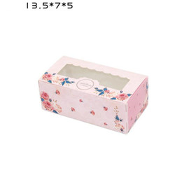 Wholesale Pink Cake Box Cupcakes - 3 Sizes Pink Blue Kraft Paper Cake Box with PVC Window Party Gift Packing Box Cookie Candy Nuts Box Dessert Packaging ZA6588