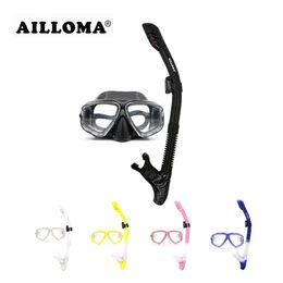 373e3a3df Ailloma profissional máscara de mergulho tubo de silicone à prova d  água  anti nevoeiro mergulho máscara de mergulho e snorkels