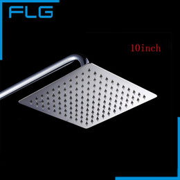 Wholesale Perfect Shower - High Quality 10inch 25cm Perfect Stainless Steel Square Bathroom Rain Shower Head