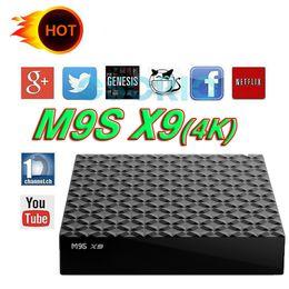 Wholesale Cheapest Quad Core Tv Box - Cheapest Quad Core M9S X9 Android TV BOX KD 17.3 1GB 8GB Android 6.0 Media Player VS TX3 X96 Mini MXQ PRO