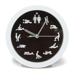 Wholesale Clock Table Living Room - Wholesale-New Arrivals 12 Position Patterns Funny Circular Table Clocks Cultural Arts Sex Clock Novelty Sexy Classic For Living Room