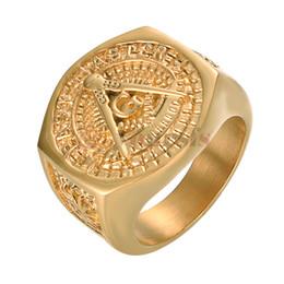 Kühle silberne ringe für männer online-Yoursfs Classic Herren Punk Style Hip Hop Ring Band Cool Lion Head Gold und Silber Farben Ring R953Y1