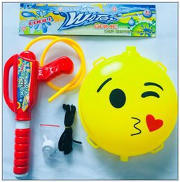 Wholesale high pressure gun - Emoji Backpack Water Gun Large Children's Water Gun Toys High Pressure Range Pull-away Beach Toys Beach Toys Novelty Items CCA9597 30pcs