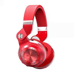 Auriculares de turbinas online-Bluedio Headest T2 + Turbine 2 Plus Plegable Bluetooth Auricular Bluetooth 4.1 Auricular Soporte para tarjeta SD y radio FM Para llamadas Música 2018 buena