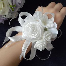 Rabatt Weisse Hochzeit Corsage 2019 Weisse Blumen Hochzeit Corsage