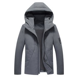 d17cab74f517 Mens Winter Down Jackets With Hood Clearance Packable Down Insulated Mens  Long Jackets And Thick Coats Lightweight Big And Tall