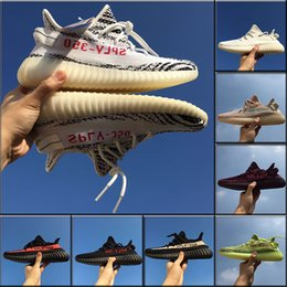 Wholesale Red Blue Video - Best Quality Boost 350 V2 350 V2 Shoe SPLY-350 AH2203 Fashion Shoes Zebra Shoe Kanye West Boost V2 Man Women Shoes Sneakers Size36-48 Video