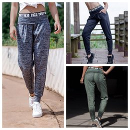 ladies harems pants 2018 - Gym Loose Sport Pants Women Sweatpants Fitness Letter Running Harem Pants Lady Exercise Sport Leggings Spliced Trousers LJJO4528