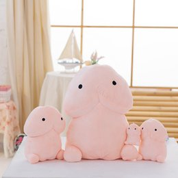 Wholesale Toys For Sexy Dolls - 30 50cm Creative Cute Penis Plush Toys Pillow Sexy Soft Stuffed Funny Cushion Simulation Lovely Dolls Gift for Girlfriend