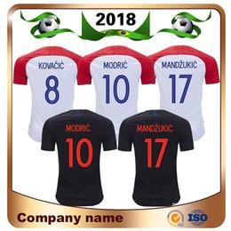 Camisas do uniforme do azul marinho on-line-Jersey Promoção Futebol 2018 Copa Do Mundo De Futebol Jerse hom Longe Da Camisa Azul Marinho 10 Modric 7 Rakitic Nacional Equipa Vende Uniformes de Futebol