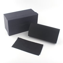 Wholesale Leather Glasses Cases For Men - Black heart glasses case luxury leather case Brand Box Case For Sunglasses Eyeglasses Protective Eyewear Accessories Free Ship