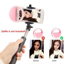 Canada Selfie Flash Led Cell Phone Light Lampe Led Selfie Lampe Anneau Flash Pour Téléphone 4 couleurs Offre