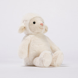 Plüschtiere lämmer online-Plüsch spielt Geburtstagsgeschenk-Tierspielwaren 3D der kundenspezifischen Großhandelskinder des Plüsch-Lamms Baumwollpuppe