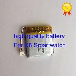 2019 bateria de polímero de lítio de alta capacidade 2017 nova chegada de alta capacidade recarregável bateria de polímero de lítio para k8 w801 relógio inteligente relógio do telefone smartwatch relógio de pulso bateria de polímero de lítio de alta capacidade barato