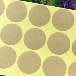 2019 leere etikettenkarten 2000 stücke Kraft Blank Paper Sticker Etiketten 4 cm Durchmesser Runde selbstklebende Label Dichtung Für Tipps / Box / Schmuck / Tasche / Karte rabatt leere etikettenkarten