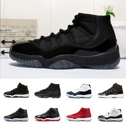 Wholesale Green Baskets - 11 Prom Night 11s XI Gym Red Chicago Midnight Navy Bred Concord UNC Space Jam PRM Heiress men women Basketball Shoes sports Sneaker