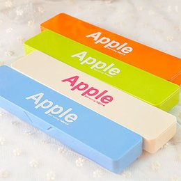 Wholesale Apple Pencils - APPLE Candy Color Pencil Case , Simple Style Pencil Pouch for School Students as Office School Stationary