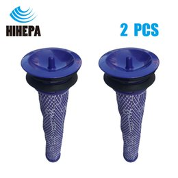 Wholesale pre clean - 2pcs Washable HEPA Filters Pre Filter Motor Head for Dyson V6 V7 V8 DC62 DC61 DC58 DC59 DC74 Vacuum Cleaner parts DY-965661-01