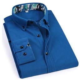Весна новый вельвет мужской рубашка с длинными рукавами бизнес случайный черный дизайн кнопки 100% полиэстер мягкое удобное от