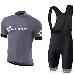 Bicicletta bicchierini cubo online-2019 CUBE Cycling team Abbigliamento maglia da ciclismo Ropa Ciclismo Quick Dry Abbigliamento da ciclismo da uomo pro Maglia da ciclismo pantaloncini da bici in gel