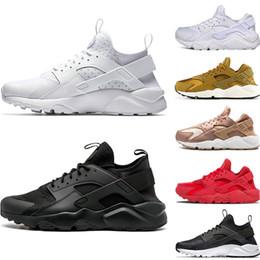 pretty nice f66ea 383b9 Nike air Huarache 4.0 1.0 Klassik Triple Weiß Schwarz Rot Herren Womens Huaraches  Schuhe Huaraches Sport Sneaker Laufschuhe Größe EUR 36-45 rabatt schwarze  ...