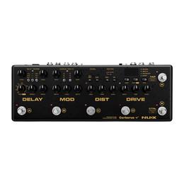Câble pédales d'effets en Ligne-NUX Cerberus Multi Guitar Effect Pédale Delay Overdrive Modulation De La Modulation Effets Routage Intérieur Routeur IR Câble 4 Méthode