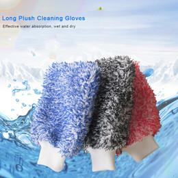 2019 aplicador de vinil Lavagem de carro de alta densidade Soft Absorbancy luva Ultra macio fácil de secar Auto detalhando microfibra loucura lavagem Mitt pano toalha