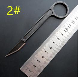Pietre artigliate online-Nuovo Arrivo bali BAS13 artiglio karambit Coltelli tattici 440C Stone Wash Blade Full Tang Manico in acciaio Lama fissa Lama tagliacarte Coltello