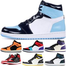 COUTURE UNC 1 1s Zapatillas de baloncesto para hombre mujer Union Phantom Multicolor Corte Púrpura Verde pino Mujer 1 Zapatillas deportivas 5.5-13 desde fabricantes