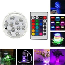 10 LED Dalgıç Mum Lamba Uzaktan Kumanda RGB Çiçek Vazo Taban Su Geçirmez Düğün Doğum Günü Partisi Dekorasyon için led ışıkları supplier led base lights for vases nereden vazolar için taban aydınlatmaları tedarikçiler