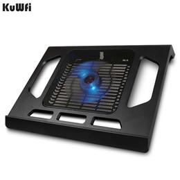 2019 прохладные синие ноутбуки KuWfi ноутбук охлаждающие вентиляторы для ноутбука Tablet PC ноутбук ниже 15 дюймов Cooler Pad охлаждения с одним вентилятором 2 синий LED скидка прохладные синие ноутбуки