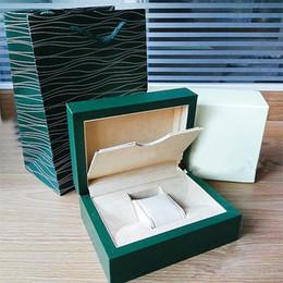 Livraison Gratuite Nouveau Style Marque Vert Montre Originale Boîte Papiers Cadeau Montres Boîtes Sac en cuir Carte 0.8KG Pour Rolex Watch Box ? partir de fabricateur