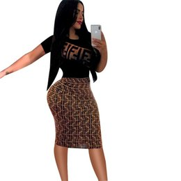 Vestidos de noite elegante mais tamanho das mulheres on-line-Mulheres 2019 verão dress sexy vintage elegante lápis vestidos festa à noite impressão mulheres dress bodycon vestidos plus size y190426