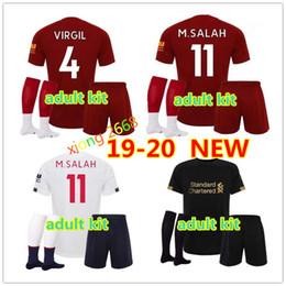 Argentina Camiseta de fútbol del equipo adulto de 2019 Liverpool 2020 MANE M.SALAH VIRGIL maillot de foot kit de adulto 19/20 camiseta de futbol kit de adultos camisetas Suministro