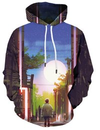 Hoodies abstratos on-line-Moda Masculina / Womens Abstract Art 3D Impressão Camisola Hoodies Pullover V51