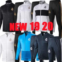 2019 2020 Real Madrid jaqueta de futebol treino calças compridas jaquetas 19 20 jaqueta de Treinamento terno kits de futebol treino RONALDO Camisola de