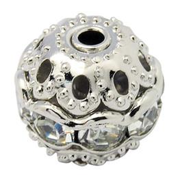 100 Pcs Laiton Cristal Strass Perles Charme Rond Entretoise Perles avec Fleur Cap Lâche Perles pour Femme Bracelet Fabrication De Bijoux ? partir de fabricateur
