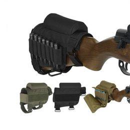 caza de cartuchos Rebajas Tactical Hunting Field CS Cartuchos tácticos multiusos Bolsa Mejilla Descanso Rifle Stocks con estuche de transporte 7 rondas
