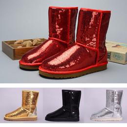 Сапоги 2019 для женщин Australia Classic snow Boots WGG короткие Серые кожаные Bailey Bowknot девушка зимние сапоги сапоги блестки size36-41 cheap short for girl sequins от Поставщики короткий для девочек блестки