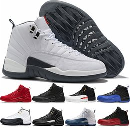 LuftJordanRetro 12 Männer Basketball Schuhe 12s Weiß Grau Midnight Black Reverse Taxi Herren Trainer Athletic Sports Sneakers Größe 8 13