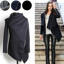 blazers patterns Promo Codes - Fall Winter Long Cashmere Coats Women 2019 European and American Fashion Slim Blazer Neck Long Wool Windbreaker Clothes Coats for Women