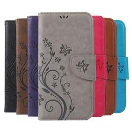Cajas del teléfono celular de la mariposa online-Imprimir mariposa flor de cuero Flip Book Wallet caja del teléfono celular para Lenovo A536 A319 S90 S850 P70 caso de la cubierta suave