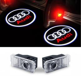 2019 luz de advertência do tejadilho Luzes da porta do carro logo projetor bem-vindo levou lâmpada sombra fantasma luzes para A3 A4 Q5 Q7 Q7 TT A5 A1 A8L A8L Q3 R8