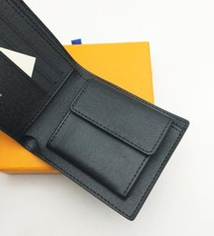 парижский монетный кошелек Скидка Paris Check Style Дизайнерский мужской кошелек Известные мужчины Роскошные двойные кошельки с карманом для монет Несколько коротких маленьких кошельков с коробкой